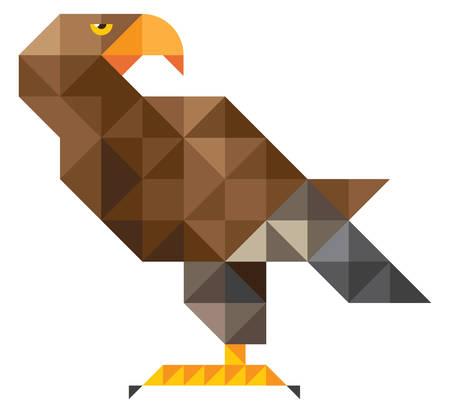 buzzard: Eagle. mosaic illustration Illustration