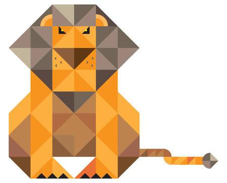 lion. mosaic illustration