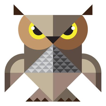 nightly: Owl. mosaic illustration