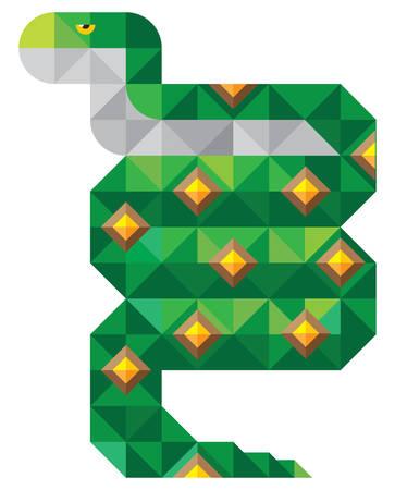 constrictor: snake. mosaic illustration
