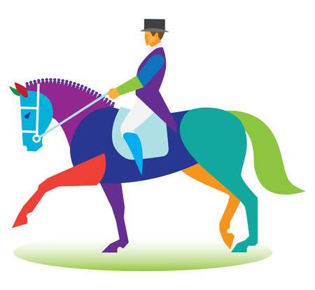 dressage: dressage horse