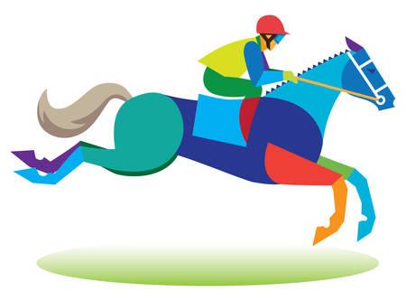 障害物競走馬 ベクターイラストレーション
