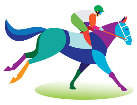 horse racing: Horse race.Jockey
