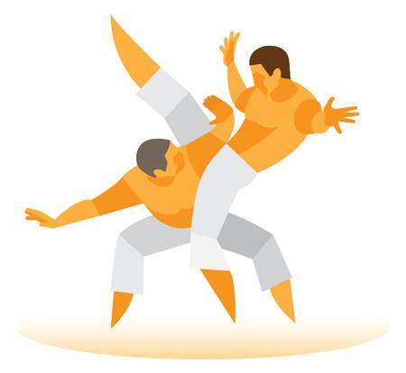 brazilian: Brazilian fight. Brazilian Martial Arts Illustration