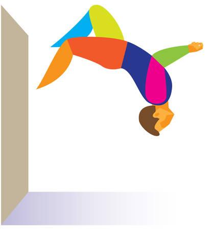 parkour: Free running. Parkour Illustration