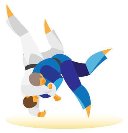 agility: Judo. Two athlete