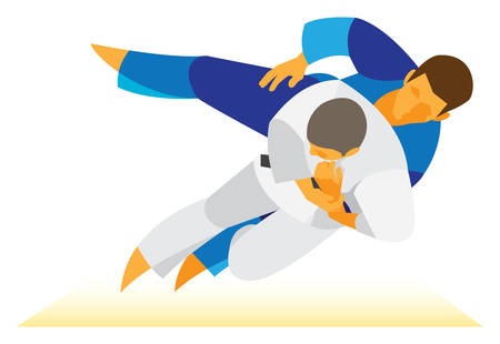 agility: two man is judo athletes