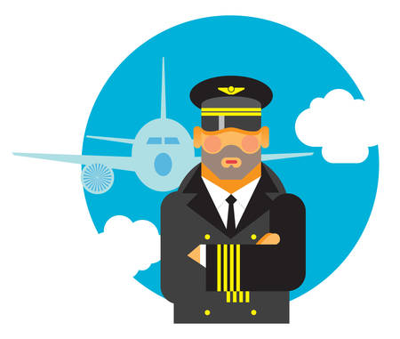 flight crew: man is Pilot