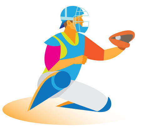 baseball catcher: baseball catcher