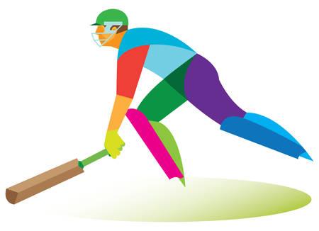 cricket helmet: cricket player