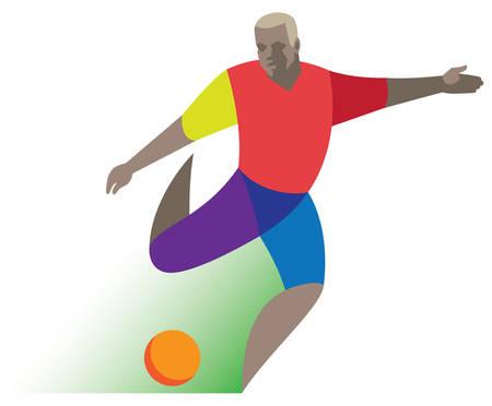 football forward Иллюстрация