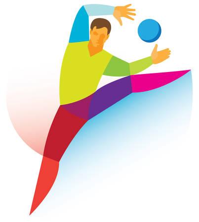 goalkeeper: Handball goalkeeper