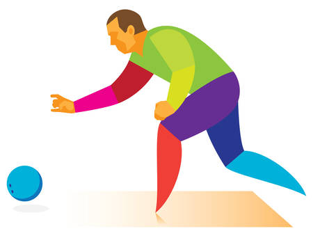 bowling throw.vector illustration