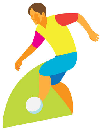 Football dribbling. vector illustration Иллюстрация
