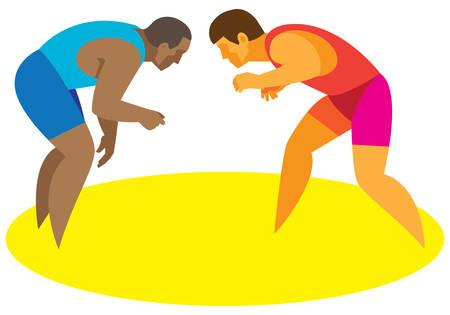 free wrestling.vector illustration