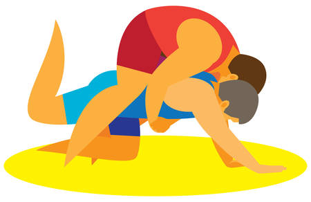 wrestling takedowns.vector illustration Иллюстрация
