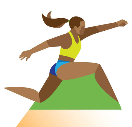 Long jumper. woman