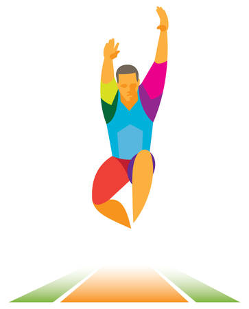 flight.long jumper Illustration