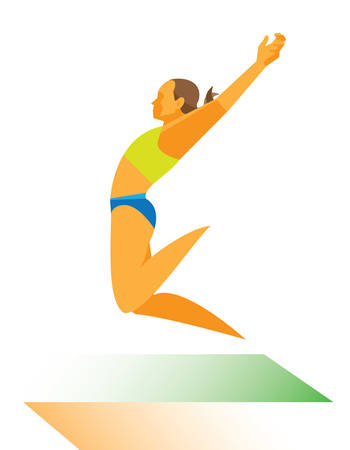 woman. jump Foto de archivo - 106603716
