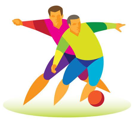 football players Иллюстрация