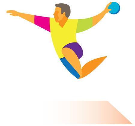 Handball attack Illustration