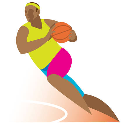 Basketball player Иллюстрация