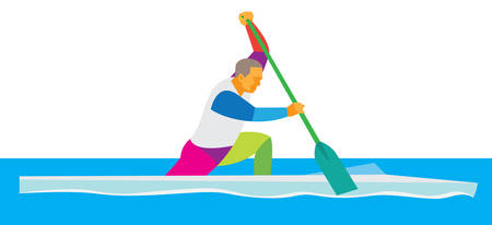 canoe single Ilustrace