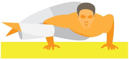 yoga man. pose 8 arches
