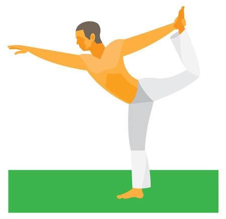 Yoga.Pose king of the dance
