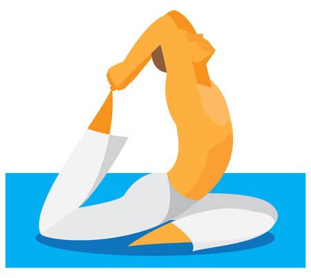 yoga man.sit Ilustrace