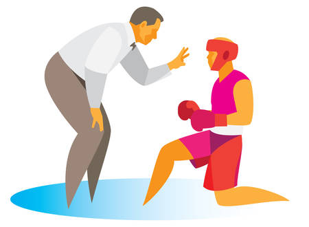Boxing.Referee.Account Illustration