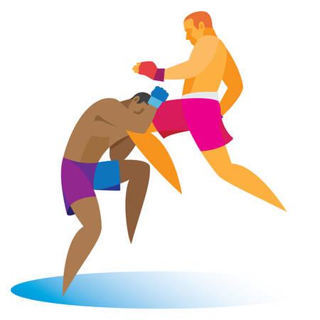kickboxing. Knee strike