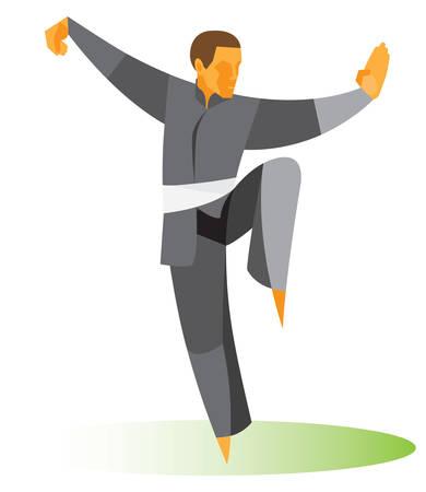 Tai Chi position Vektorové ilustrace