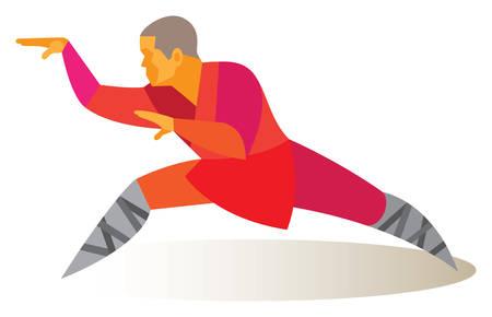 Tai Chi snake. vector illustration Illustration