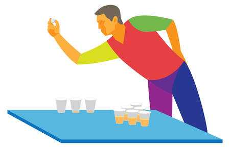Beer pong. Student