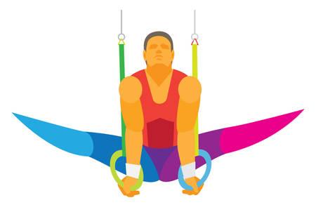gymnast. Gymnastic rings