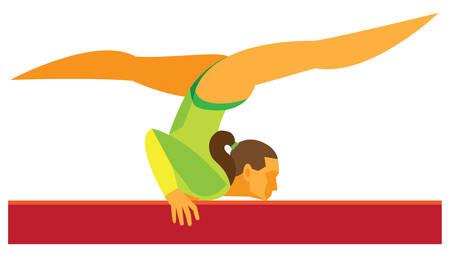 gymnastics.Woman