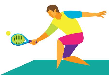 Padel tennis.Player Illustration