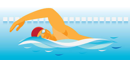 swimmer Stock Illustratie