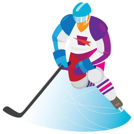 Winger. Hockey Ilustração