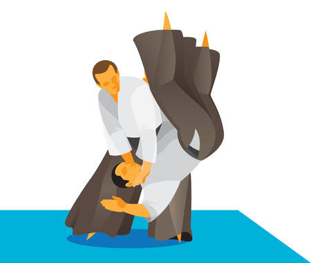 two experienced fighters are masters of Aikido