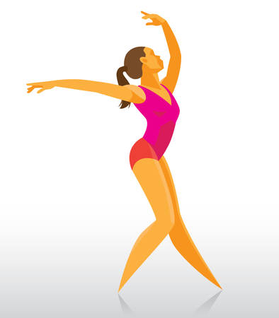 graceful young ballerina dancing the party