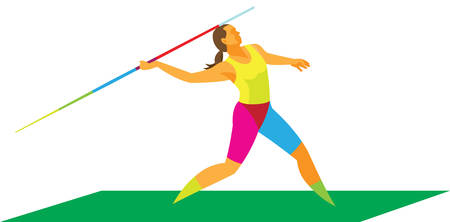 a young woman is a javelin thrower