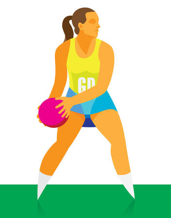 young girl student is a netball player
