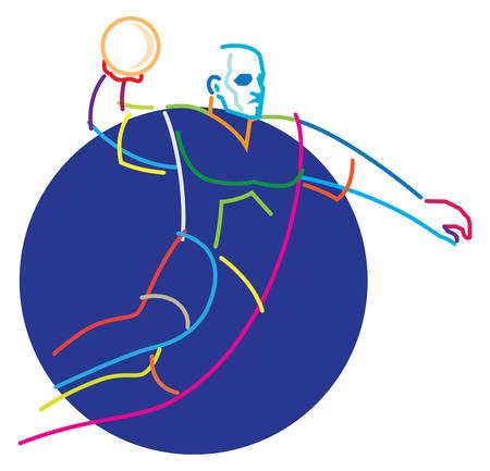 jugador de balonmano en salto