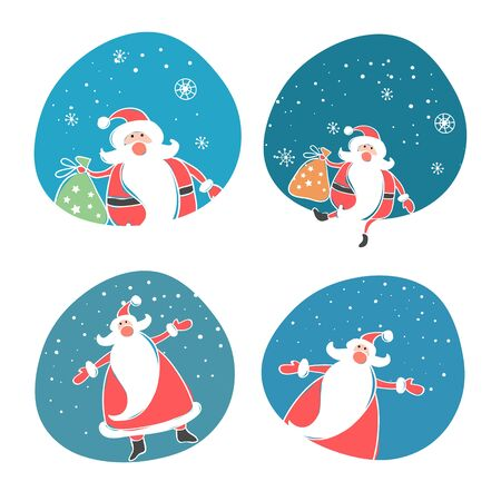 house of santa clause: Merry christmas. vector winter background.
