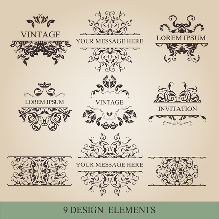 embellish: vector setcalligraphic design elements and page decoration lots of useful elements to embellish your layout