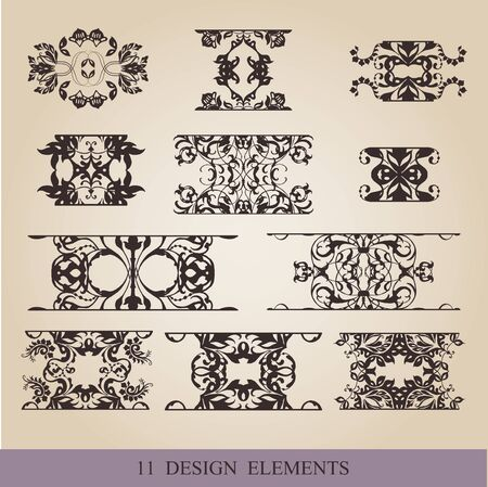 embellish: vector set calligraphic design elements and page decoration  lots of useful elements to embellish your layout Illustration