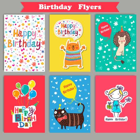marco cumpleaños: Ilustración vectorial de un feliz cumpleaños Vectores