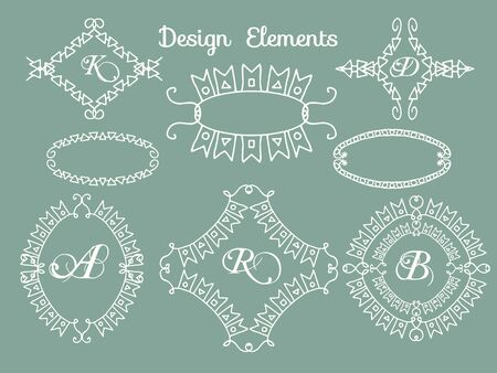 decoration design: vector set calligraphic design elements and page decoration  lots of useful elements to embellish your layout Illustration